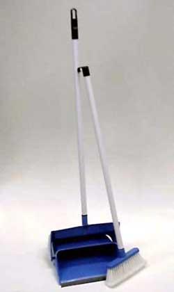Dustpan and Broom StandUp Long Handle GarboLiner