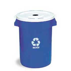 Blue Pail with Lid