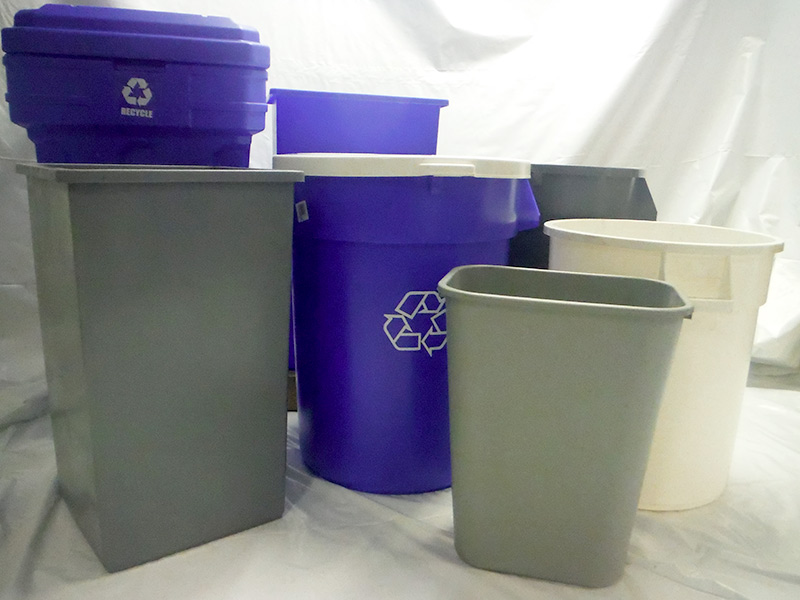 We sell all types of trash receptacles